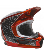 Fox Youth V1 Peril Helmet Fluorescent Red