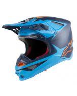 Alpinestars Helmet Supertech SM10 Meta Black Blue Orange