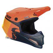 Thor Crosshelm Sector Racer oranje donker blauw