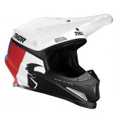 Thor Crosshelm Sector Racer wit rood blauw