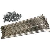 "SPOKE SET STEEL 18"" Chrome-Plated| Coated| Silver | Rear"