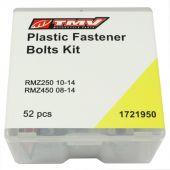 TMV PLASTIC FAST. BOLT KIT RMZ250 10-14 RMZ450 08-14 (52PCS)