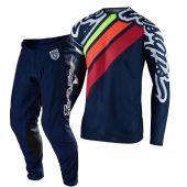 Troy Lee Designs Crosskleding Se Pro Air Seca 2.0 Donker blauw Oranje