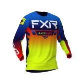 FXR Youth Pro-Stretch MX Jersey Blue/Hi Vis/Red