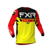 FXR Youth Pro-Stretch MX Jersey Yellow/Black/Red
