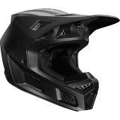 Fox V3 Solids Cross helm mat zwart