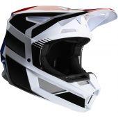 Fox V2 HAYL Cross helm blauw rood