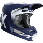Fox V1 WERD Cross helm Donker Blauw