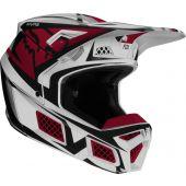 Fox V3 IDOL Cross helm licht grijs