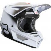 Fox Jeugd V2 VLAR Cross helm wit