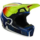 Fox V3 RS WIRED Crosshelm Fluo geel