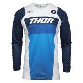 Thor Motorcross Shirt Pulse Racer wit donker blauw