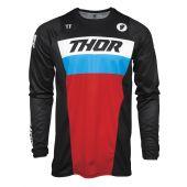 Thor Jeugd Motorcross Shirt Pulse Racer zwart rood blauw