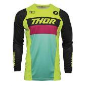 Thor Jeugd Motorcross Shirt PULSE Racer fluo groen zwart