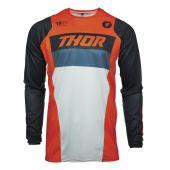Thor Jeugd Motorcross Shirt PULSE Racer oranje donker blauw