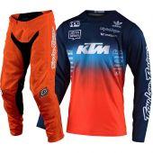 Troy Lee Designs Crosskleding GP Air Stain'd Team Donker blaw Oranje