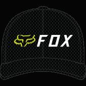 Fox apex flexfit Pet Zwart Geel