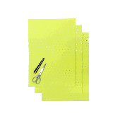 BLACKBIRD COLOURED CRYSTALL SHEETS WITH HOLES 47X33 CM 3PK FLUO YELLOW