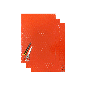 BLACKBIRD COLOURED CRYSTALL SHEETS WITH HOLES 47X33 CM 3PK FLUO ORANGE
