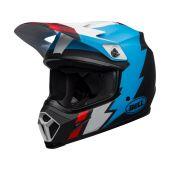 BELL MX-9 Mips Helmet Strike Matte Black/Blue/White