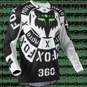 Fox 360 NOBYL JERSEY Black White XXL