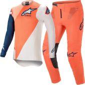 Alpinestars Supertech Blaze Orange Blue Gear combo