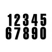 BLACKBIRD THREE SERIES NUMBER #0-9 SET ADHESIVE BLACK