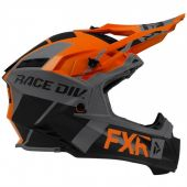FXR Helium Race Div Helmet Orange/Black/Char