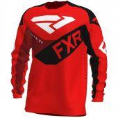 FXR Podium MX Cross Shirt Rood/Zwart/Bordeaux