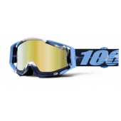 100% RACECRAFT crossbril TIEDYE spiegel goud