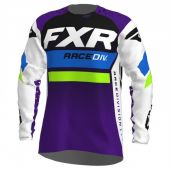 FXR Revo MX Cross Shirt Wit/Paars/Fluo Groen