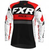 FXR Revo MX Cross Shirt Wit/Rood/Houtskool/Zwart