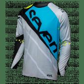 SEVEN RIVAL MILITANT Cross Shirt Blauw/CEMENT