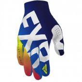 FXR Youth Slip-On Lite MX Glove Blue/Navy Fade