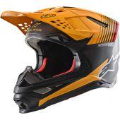 Alpinestars Helmet Supertech SM10 Dyno Black Orange