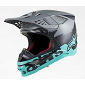 Alpinestars Helmet Supertech SM8 Radium Black Gray Teal