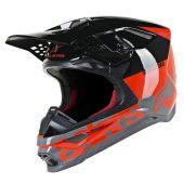 Alpinestars Helmet Supertech SM8 Radium Red Black Gray