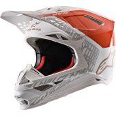 Alpinestars Helmet Supertech SM8 Triple Orange White