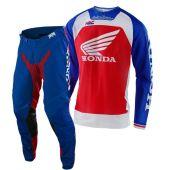 Troy Lee Designs Se Pro Boldor Honda Rood Blauw Crosskleding
