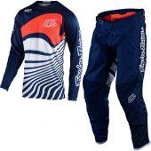 Troy Lee Designs Crosskleding GP Drift donker blauw oranje