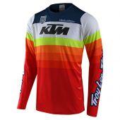 Troy Lee Designs SE Pro Cross shirt KTM Mirage wit rood