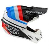 Troy Lee Designs SE4 Composite Helmet Mirage White Black