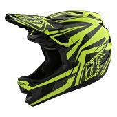 Troy Lee Designs D4 Helmet Carbon Slash Black Yellow