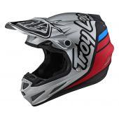 Troy Lee Designs SE4 Composite Silhouette Helmet Silver Black