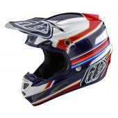 Troy Lee Designs SE4 Composite Speed Helmet White Red