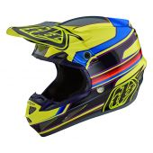 Troy Lee Designs SE4 Composite Speed Helmet Yellow Grey