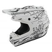 Troy Lee Designs SE4 Composite Helmet LTD Stranded White