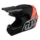 Troy Lee Designs GP BLOCK Crosshelm Zwart Oranje