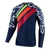 Troy Lee Designs Se Pro Air Cross shirt Seca 2.0 Donker Blauw Oranje