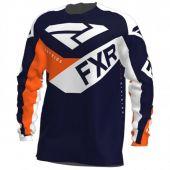 FXR Youth Clutch MX Jersey Midnight/White/Orange